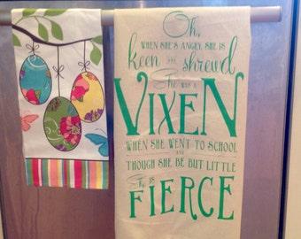 Fierce Vixen Tea Towel