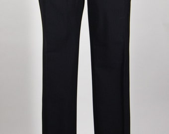 Black Wool Dress Pants Tapered Leg Boot Cut Skinny