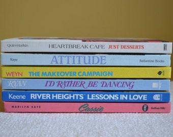 "Six VintageHardcover Teen Fiction Books from the ""Especially for Girls"" 80s 90s Book Club"