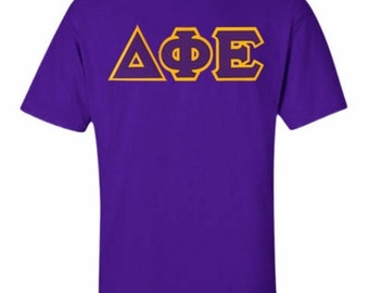 Delta Phi Epsilon Lettered T-shirts