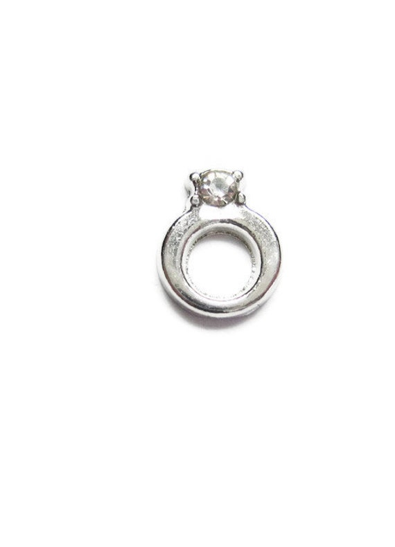 engagement ring floating charm 6x7mm by anajewelrysupplies