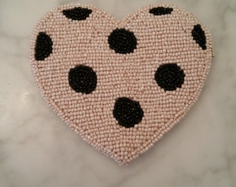 Dotted Heart Coin Purse