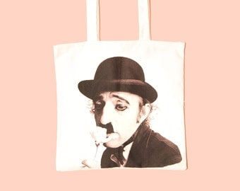 woody allen as charlie chaplin - the graphic tote