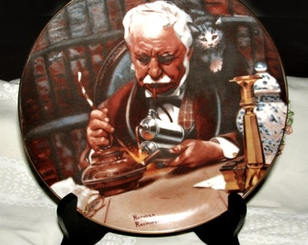 Norman Rockwell The Tinkerer 1981 Collector Plate