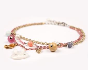 Bracelet Tokki rose cute