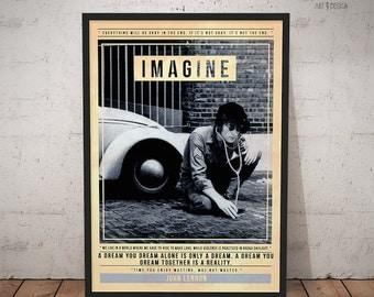 John Lennon - Quote Retro Poster - Music Legends Series
