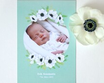 birth announcement with your baby photo
