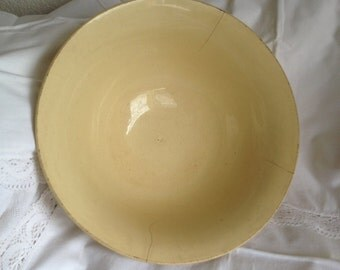 french dish, yellow dish, Gien,