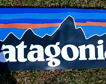 Patagonia Clothing Store / Event merchanding BANNER POSTER + DECAL never used