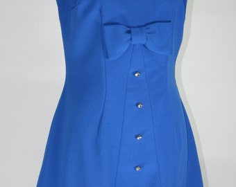 1960s CLARALURA ORIGINAL electric blue gogo dress
