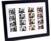 WEDDING FAVOR Photo Booth Mat w/ Frame - Holds 4- 2x6 with Mat to Display, Cherish and Preserve your Wedding Memories, Bridesmaids & Grooms