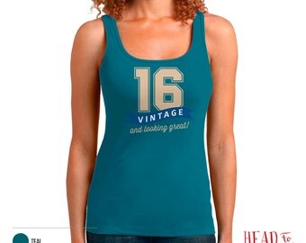 16th Birthday, 16th Birthday Gift, 16th Birthday Party, 2000 Birthday, 16 Birthday, Tank Top, 16th, 16, 16th Birthday Shirt, 16 years old!
