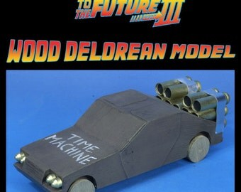 Back to the Future III Wood Delorean Prop