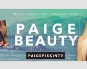 YouTube Banner - Beautiful, Girly and Fun Design Template