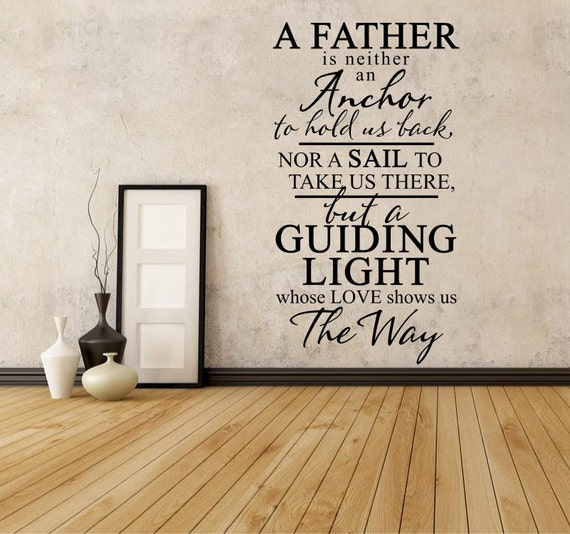 Wall Quotes With Lights : A Father Is A Guiding Light Wall Quote Vinyl Wall Decals