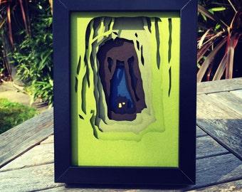 Woodland Cottage - Framed 3D Cutout
