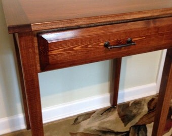 Side Table- Handmade side table with hidden compartment secret storage