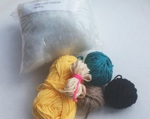 REFILL PACK for the One-Eyed Minion Crochet Kit