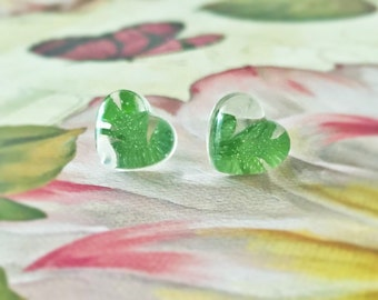 REAL PLANT EARRINGS - Transparent Resin Jewelry
