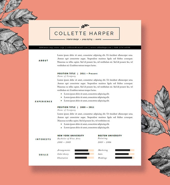 Polished Resume Template and Cover Letter for Word and Pages | Two ...