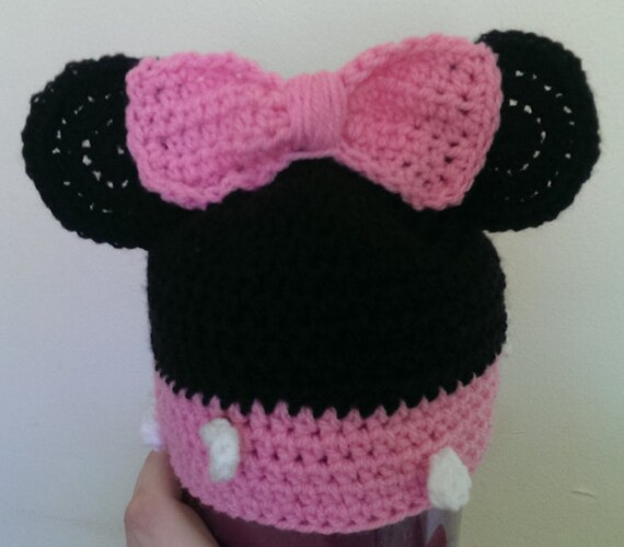 Baby Minnie Hat (custom size up to 12 mths)