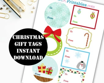 Christmas Gift Tag Printable / Christmas Printable / Christmas Gift Tags / Sticker Printable / Holiday Printable Instant Download 00032