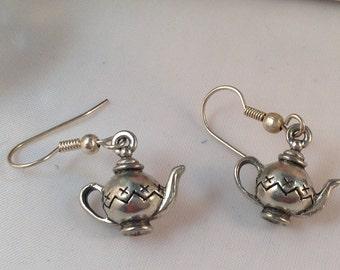 Teapot Charm Earrings