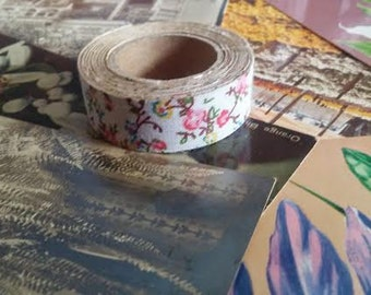 Adorable soft white floral ribbon tape