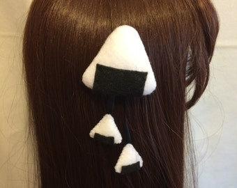 Onigiri (Rice ball) Hair Clip, Lolita, Cosplay