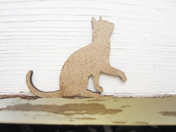 Items Similar To Set Of 10 Shapes, Cat Laser Cut, Cat