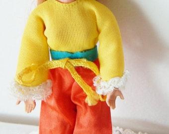 Vintage Mattel Rock Flowers LILAC Doll 1970 Mini Red Hair Doll