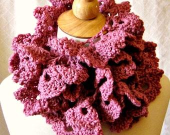 Crochet Scarf Pattern - Rose Petal Wrap - Easy 1-Skein Lace Scarf DIY Instant Download