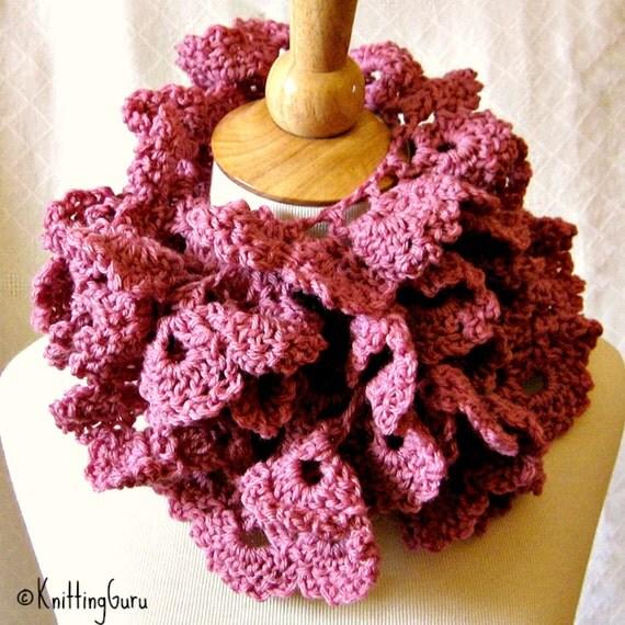 Free Crochet Rose Petal Pattern : Crochet Scarf PATTERN Rose Petal Wrap Easy by KnittingGuru