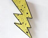 Lightning Bolt - Papier Mache Sculpture