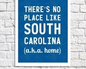 South Carolina Art Southern Pride Home Sign Any State Love Typography Print Carolina Girl Dorm Decor Quote Poster SC Artwork Going Away Gift