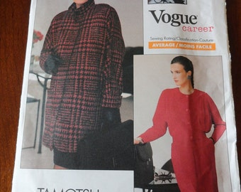 Vintage 80s Vogue Career 2111 Sewing Pattern TOMOTSU Jacket Blouse Skirt size 12 14 16 UNCUT