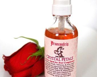 "Organic Rose Face Spray: ""Crystal Petals"" w/ Organic Rose, Aloe, & Hibiscus"