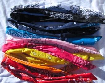 Bandana Wire Tie Headband Bandanna Head Wrap Rock Fashion Headband Wire Headband