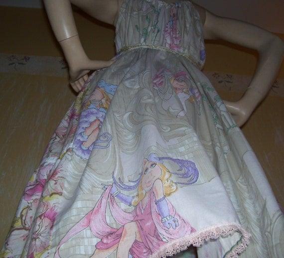 Miss Piggy Sundress Burlesque Vegas with Kermit Upcycled Dress L XL 1X 2X Adult Geek Sundress