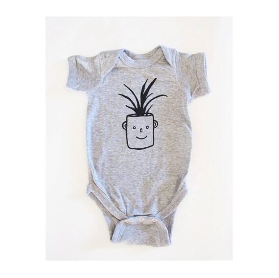 Sale Little Plant Succulent Planter Face Onesie Newborn