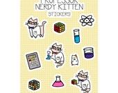 Sticker Sheet - Science Cat Nerdy Kitty