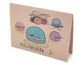 Funny Maroon 5 featuring Macaroons Greeting Card