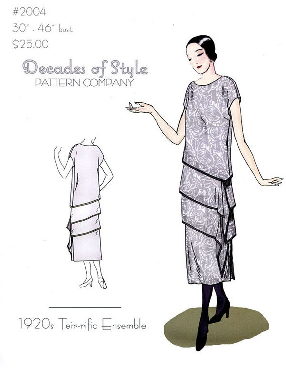 1920s Patterns – Vintage, Reproduction Sewing Patterns  1920s Teir-Rific Ensemble $20.00 AT vintagedancer.com