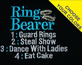 Ring Bearer or Flower Girl T-shirt Embroidered  Wedding newborn - Childrens size