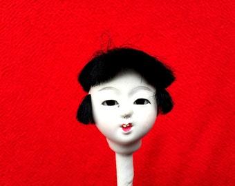 Japanese Doll Head Hina Matsuri Japanese Doll Festival Girl's Head D5-6
