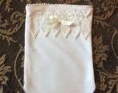 Baby Whisperer Collection - Ivory Romper and Headband - RESERVED FOR JESSIE