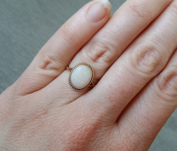 Reserved for Quynh Nhu Pham Antique Opal Engagement Ring