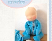 Blossombabies Waldorf Inspired 12 inch Sunshine Baby Doll Sewing Pattern - PDF - Instant Download