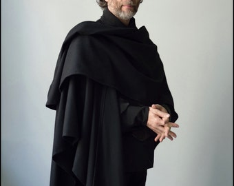 Il Sommo Poeta - Black Wool Wrap by Kambriel - Brand New & Ready to Ship!