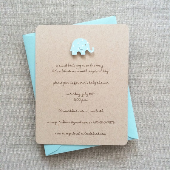 baby shower invitation boy pool elephant by graciegirlnotes